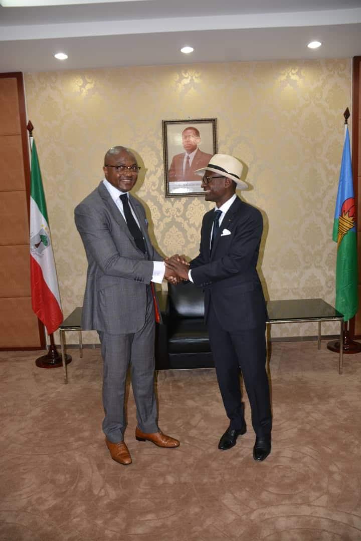 Avec le Ministre des Mines et des Hydrocarbures de la Guinée Équatoriale,M.Gabriel Mbaga Obiang Lima.