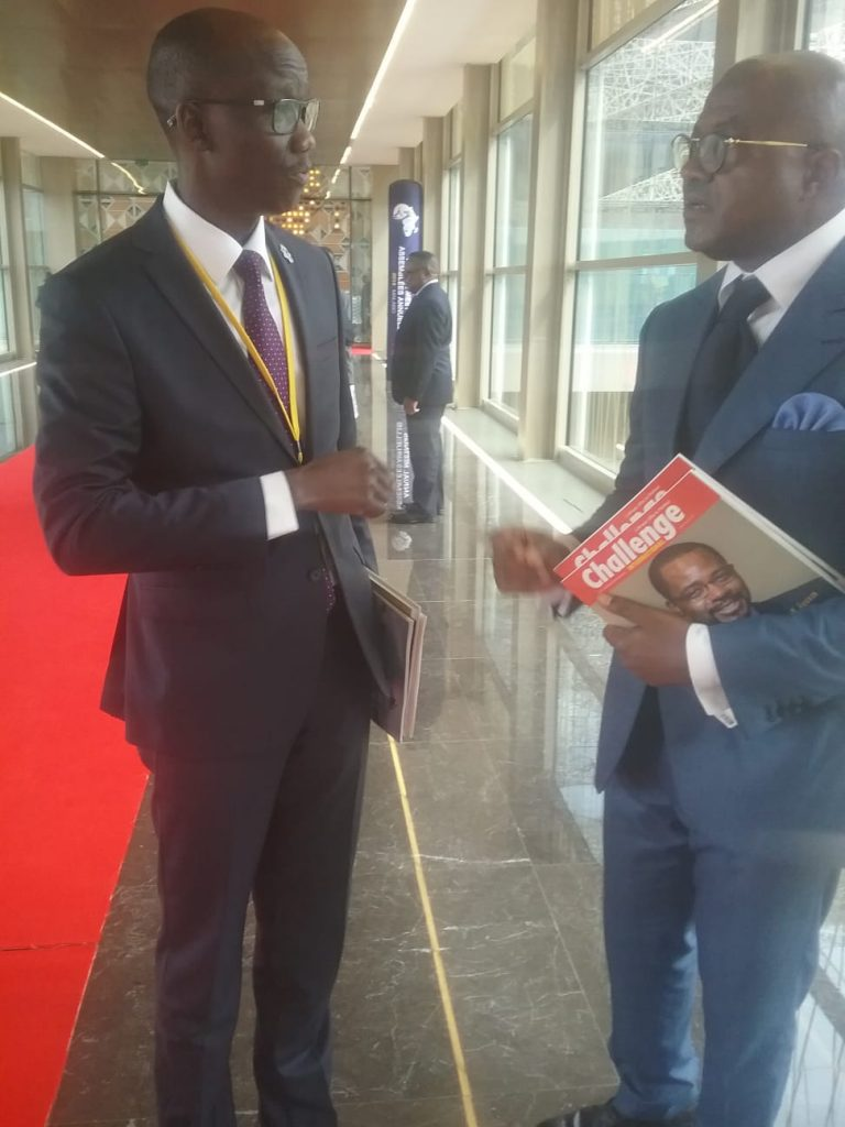 Avec le ministre de l'Economie du TCHAD