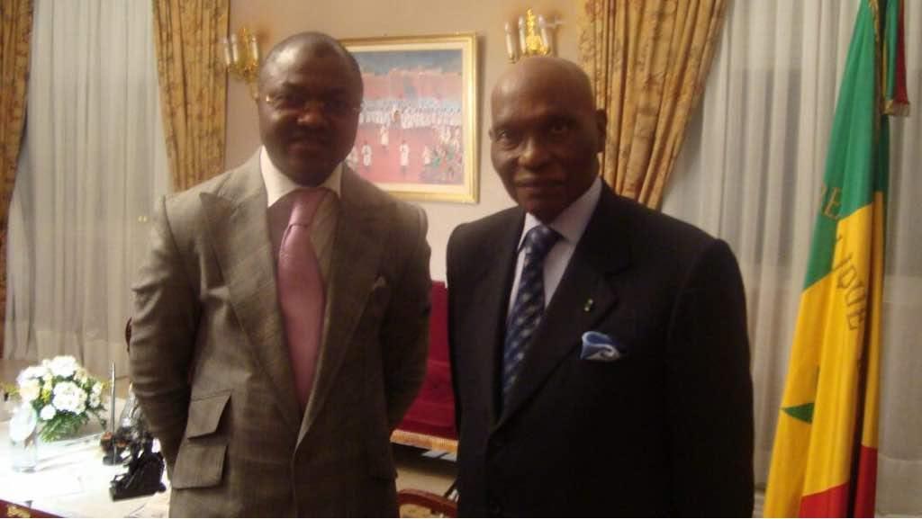 Avec le Président du Sénégal Abdoulaye Wade.