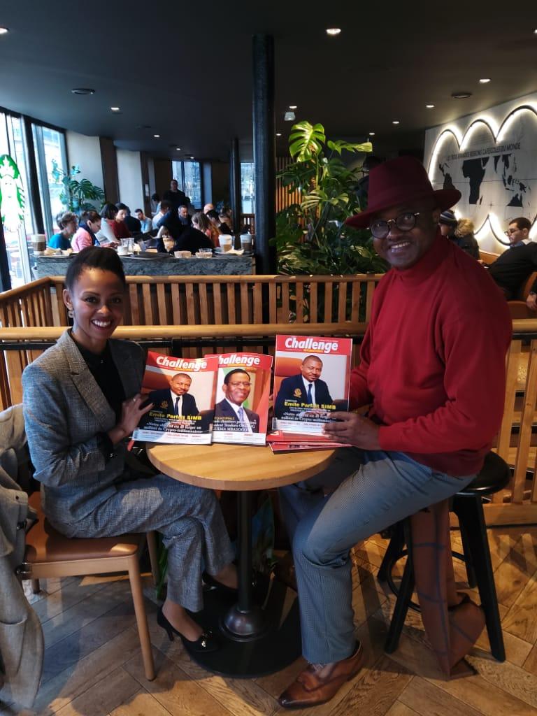 Nicole,Directrice Madagascar et Océan -indien de GIT, toute heureuse de découvrir le dossier Spécial consacré au créateur du SIMBCOIN en Afrique:Emile Parfait Simb CEO GIT